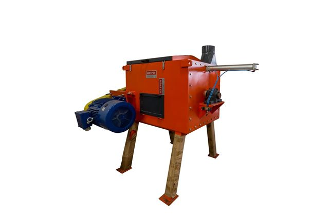 Centrifugadora separadora de líquidos y sólidos para residuos plásticos. Robustez, eficacia y eficiencia durante su vida util.