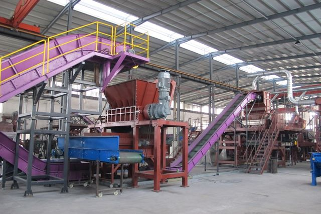 Planta para reciclaje de electrodomésticos y cables eléctricos de altos diámetros. Procesa todo tipo de elementos metálicos.